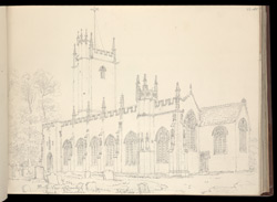 Dawlish Church, Devon, 1820